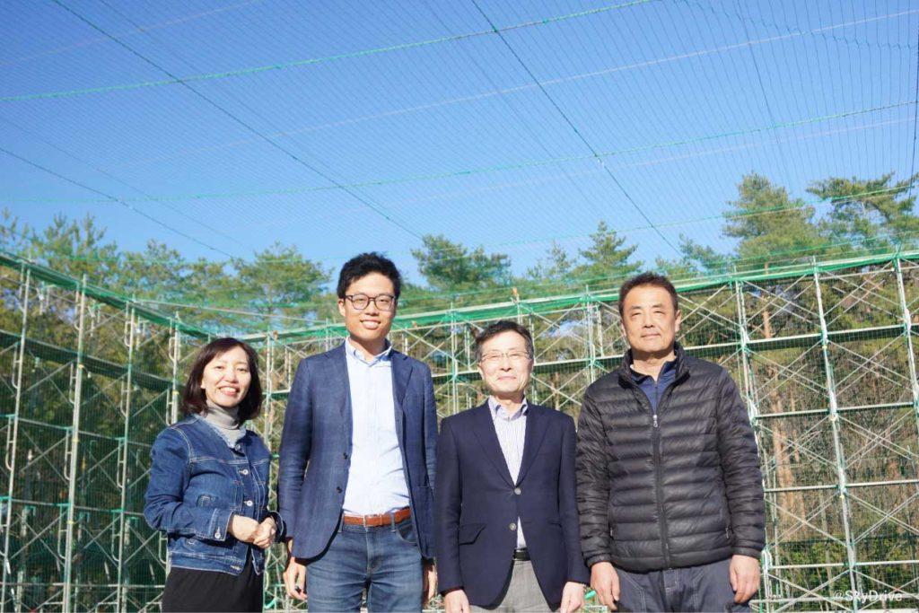 左から事業責任者 宮内、代表取締役 福澤、CTO 岸氏、チーフエンジニア 安藤